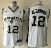 Wholesale Cheap San Antonio Spurs #12 LaMarcus Aldridge Revolution 30 Swingman White Jersey