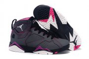 Wholesale Cheap Womens Air Jordan 7 Retro Shoes Dark grey/purple-white