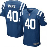 Wholesale Cheap Nike Colts #40 Spencer Ware Royal Blue Team Color Men's Stitched NFL Elite Jersey