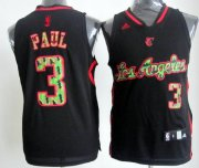 Wholesale Cheap Los Angeles Clippers #3 Chris Paul Black Camo Fashion Jersey