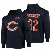 Wholesale Cheap Chicago Bears #32 David Montgomery Nike NFL 100 Primary Logo Circuit Name & Number Pullover Hoodie Navy