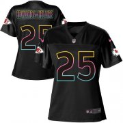 Wholesale Cheap Nike Chiefs #25 Clyde Edwards-Helaire Black Women's NFL Fashion Game Jersey