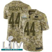 Wholesale Nike 49ers #28 Jerick McKinnon Olive Youth Stitched NFL Limited 2017 Salute to Service Jersey