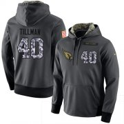 Wholesale Cheap NFL Men's Nike Arizona Cardinals #40 Pat Tillman Stitched Black Anthracite Salute to Service Player Performance Hoodie