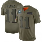 Wholesale Cheap Nike Eagles #11 Carson Wentz Camo Youth Stitched NFL Limited 2019 Salute to Service Jersey