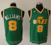 Wholesale Cheap Utah Jazz #8 Deron Williams Green Swingman Throwback Jersey