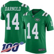 Wholesale Cheap Nike Jets #14 Sam Darnold Green Youth Stitched NFL Limited Rush 100th Season Jersey