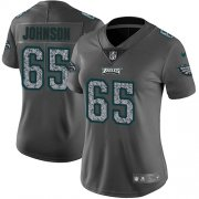 Wholesale Cheap Nike Eagles #65 Lane Johnson Gray Static Women's Stitched NFL Vapor Untouchable Limited Jersey