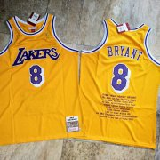 Wholesale Cheap Men's Los Angeles Lakers #8 Kobe Bryant Yellow 1996-97 Hardwood Classics Soul AU Throwback Jersey