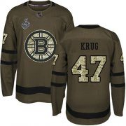 Wholesale Cheap Adidas Bruins #47 Torey Krug Green Salute to Service Stanley Cup Final Bound Stitched NHL Jersey