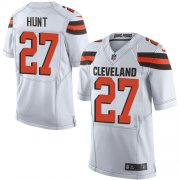 Wholesale Cheap Nike Browns #27 Kareem Hunt White Men's Stitched NFL New Elite Jersey
