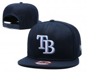 Wholesale Cheap MLB Tampa Bay Rays Navy Blue Snapback