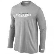 Wholesale Cheap Nike Atlanta Falcons Authentic Font Long Sleeve T-Shirt Grey