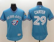 Wholesale Cheap Blue Jays #29 Joe Carter Light Blue Flexbase Authentic Collection Cooperstown Stitched MLB Jersey