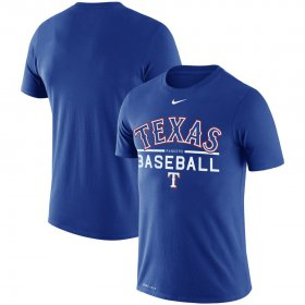 Wholesale Cheap Texas Rangers Nike Practice Performance T-Shirt Royal