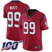 Wholesale Cheap Nike Texans #99 J.J. Watt Red Alternate Men's Stitched NFL 100th Season Vapor Limited Jersey