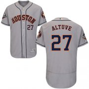 Wholesale Cheap Astros #27 Jose Altuve Grey Flexbase Authentic Collection 2019 World Series Bound Stitched MLB Jersey