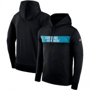 Wholesale Cheap Men's Carolina Panthers Nike Black Sideline Team Performance Pullover Hoodie