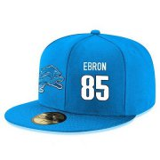 Wholesale Cheap Detroit Lions #85 Eric Ebron Snapback Cap NFL Player Light Blue with White Number Stitched Hat