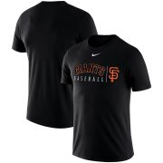 Wholesale Cheap San Francisco Giants Nike MLB Practice T-Shirt Black