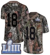 Wholesale Cheap Nike Patriots #18 Matt Slater Camo Super Bowl LIII Bound Youth Stitched NFL Limited Rush Realtree Jersey