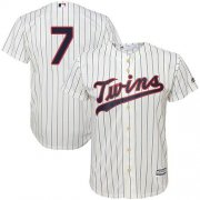Wholesale Cheap Twins #7 Joe Mauer Cream Stitched Youth MLB Jersey