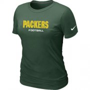 Wholesale Cheap Women's Nike Green Bay Packers Sideline Legend Authentic Font T-Shirt Green