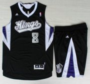 Wholesale Cheap Sacramento Kings #8 Rudy Gay Black Revolution 30 Swingman Suits