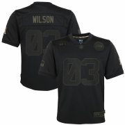 Cheap Seattle Seahawks #3 Russell Wilson Nike Youth 2020 Salute to Service Game Jersey Black