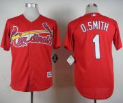 Wholesale Cheap Cardinals #1 Ozzie Smith Red Cool Base Stitched MLB Jersey