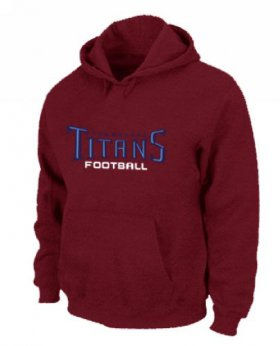 Wholesale Cheap Tennessee Titans Authentic Font Pullover Hoodie Red
