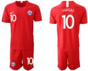 Wholesale Cheap Chile #10 Vargas Home Soccer Country Jersey