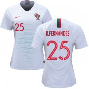 Wholesale Cheap Women's Portugal #25 B.Fernandes Away Soccer Country Jersey