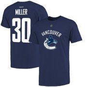 Wholesale Cheap Vancouver Canucks #30 Ryan Miller Reebok Name and Number Player T-Shirt Navy