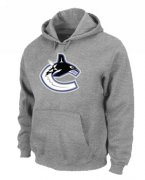 Wholesale Cheap NHL Vancouver Canucks Big & Tall Logo Pullover Hoodie Grey