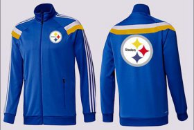 Wholesale Cheap NFL Pittsburgh Steelers Team Logo Jacket Blue