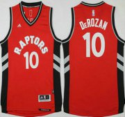 Wholesale Cheap Men's Toronto Raptors #10 Demar DeRozan Revolution 30 Swingman 2015-16 New Red Jersey