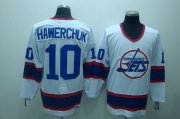 Wholesale Cheap Jets #10 Dale Hawerchuk Stitched White CCM Throwback NHL Jersey
