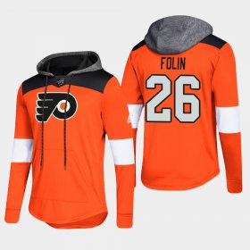 Wholesale Cheap Flyers #26 Christian Folin Orange 2018 Pullover Platinum Hoodie