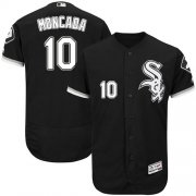 Wholesale Cheap White Sox #10 Yoan Moncada Black Flexbase Authentic Collection Stitched MLB Jersey