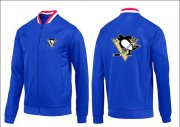 Wholesale Cheap NHL Pittsburgh Penguins Zip Jackets Blue-1