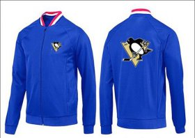 Wholesale NHL Pittsburgh Penguins Zip Jackets Blue-1