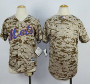 Wholesale Cheap Mets Blank Camo Alternate Cool Base Stitched Youth MLB Jersey