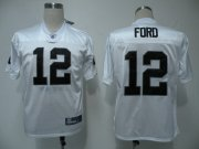 Wholesale Cheap Raiders #12 Jacoby Ford White Stitched NFL Jersey