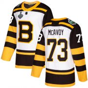Wholesale Cheap Adidas Bruins #73 Charlie McAvoy White Authentic 2019 Winter Classic Stanley Cup Final Bound Stitched NHL Jersey
