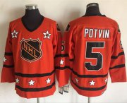 Wholesale Cheap Islanders #5 Denis Potvin Orange All-Star CCM Throwback Stitched NHL Jersey