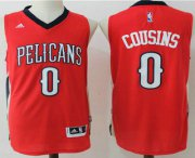 Wholesale Cheap Men's New Orleans Pelicans #0 DeMarcus Cousins Red Stitched NBA Revolution 30 Swingman Jersey