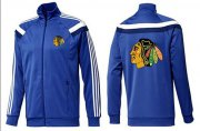 Wholesale NHL Chicago Blackhawks Zip Jackets Blue-4