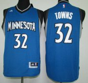 Wholesale Cheap Men's Minnesota Timberwolves #32 Karl-Anthony Towns Revolution 30 Swingman 2015 Draft New Blue Jersey