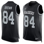 Wholesale Cheap Nike Raiders #84 Antonio Brown Black Team Color Men's Stitched NFL Limited Tank Top Jersey